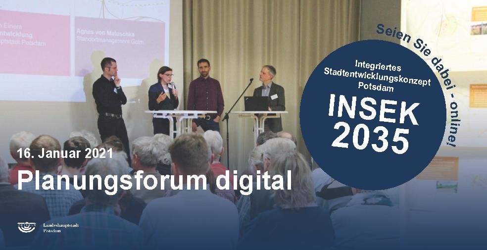 Digitales Planungsforum   am 16. Januar 2021